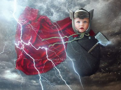 Baby Thor, Digital Backdrops, Newborns, Newborn backdrops, poppets, photography backdrops, digital photography, photoshop editing